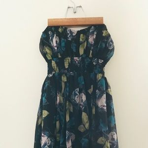 Floral Sweetheart strapless dress